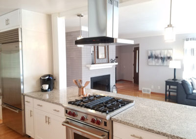 Overhill Road staged kitchen